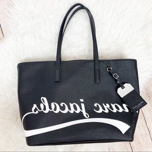 NWT MARC JACOBS Awesome Tote Mirror Logo Roomy Bag